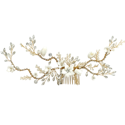 ATHENA COLLECTION - VINTAGE LUXE HAIR COMB - GOLD - HC180