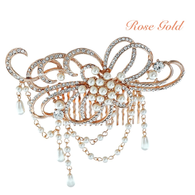 ELITE COLLECTION - STARLET ALLURE HAIR COMB - ROSE GOLD HP126