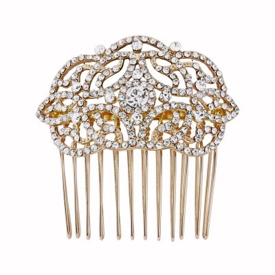 Crystal Chic Hair Comb - HC130 GOLD