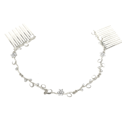 ATHENA COLLECTION - DAINTY CRYSTAL VINE - SILVER (HP161)