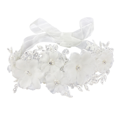 LUXE LACE EMBELLISHED HEADBAND - IVORY - LH1