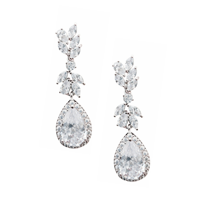 CUBIC ZIRCONIA COLLECTION - CHARLOTTE CRYSTAL EARRINGS - CZER499