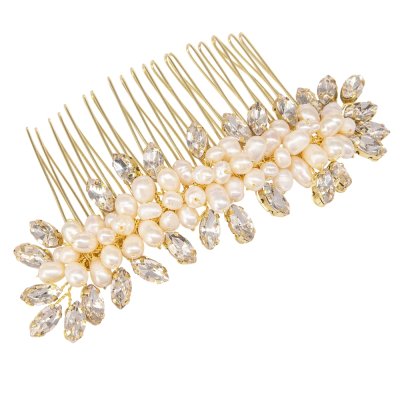 ATHENA COLLECTION - EXQUISITE PEARL COMB - HC202 GOLD