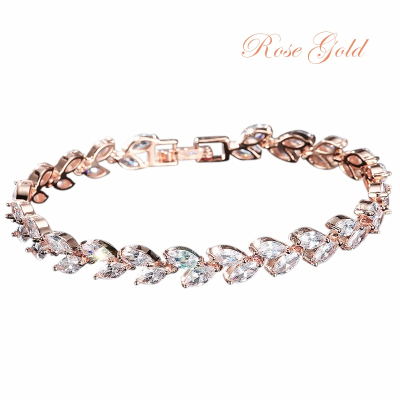 CUBIC ZIRCONIA COLLECTION - CHIC CRYSTAL BRACELET - CZBRA26 (ROSEGOLD)