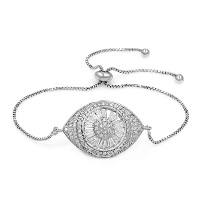 ATHENA COLLECTION - BEJEWELLED BRACELET - CZBRA35 (SILVER)