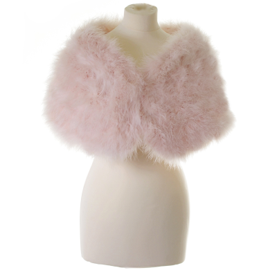 MARABOU FEATHER WRAP - LIGHT ROSE PINK (SG5)