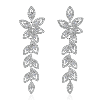 CUBIC ZIRCONIA COLLECTION - CRYSTALLURE CHANDELIER EARRINGS - CZER478
