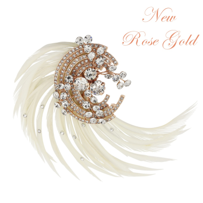 ADORIA LUXE FEATHER HEADPIECE - SASSBHP-14 (ROSE GOLD)