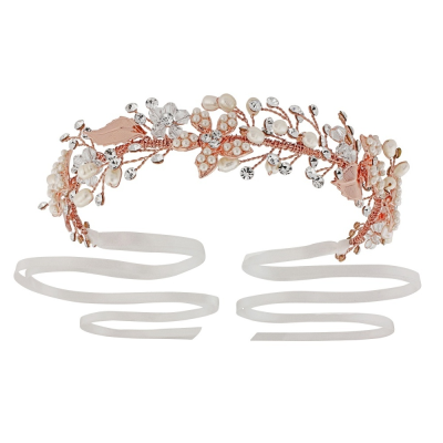 JASMINE - ROMANTIC VINE HEADPIECE - SASSB (ROSE GOLD)