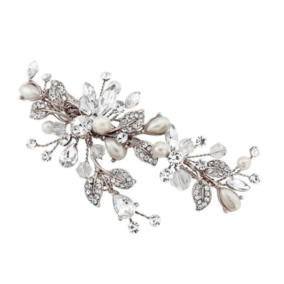 SASSB COLLECTION - VINTAGE HEIRLOOM HEADPIECE -HC35-SILVER