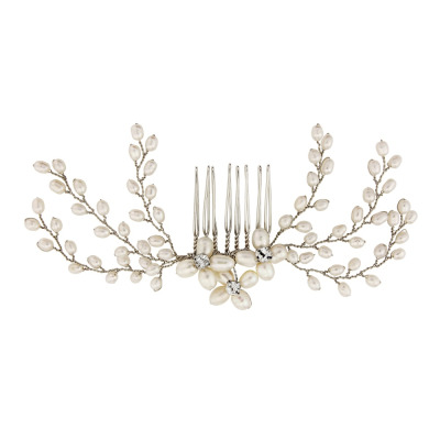 ATHENA COLLECTION - DELICATE PEARL COMB - HC154 SILVER