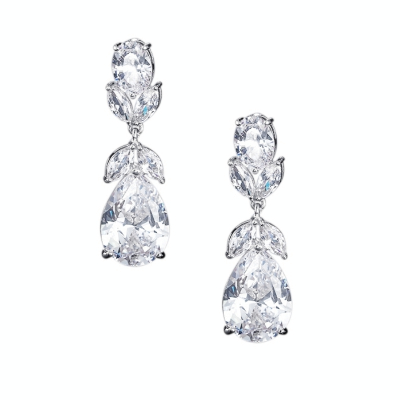 CUBIC ZIRCONIA COLLECTION - CRYSTAL STARLET EARRINGS - CZER501