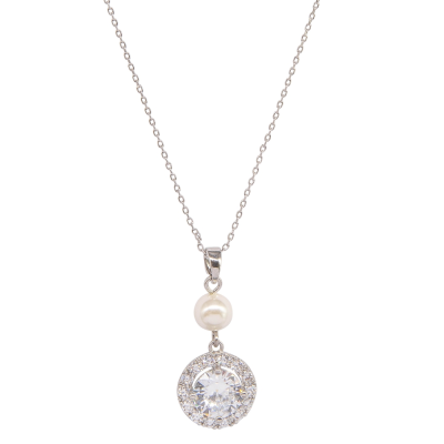 CUBIC ZIRCONIA COLLECTION - DAINTY STARLET NECKLACE - NK133