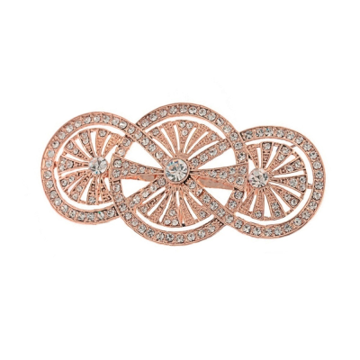ART DECO STYLE BROOCH - ROSE GOLD (154)