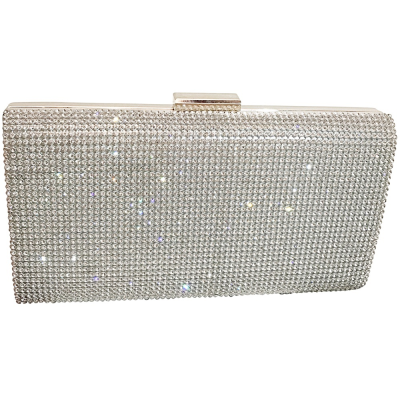 CRYSTAL ELEGANCE EVENING BAG - SILVER