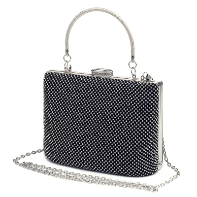 STARLET LUXE - CRYSTAL BAG JET BLACK