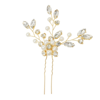 ATHENA COLLECTION - FLORAL CLUSTER HAIR PIN - PIN32 GOLD