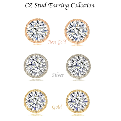 CZ Stud Earring Collection