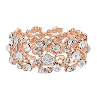 SHIMMER STRETCH BRACELET - ROSE GOLD (BR46)RG