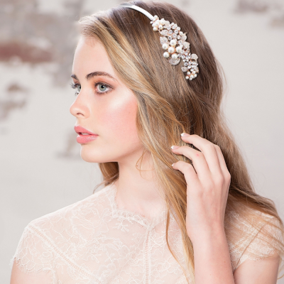 ATHENA COLLECTION - VINTAGE BLOOM HEADBAND - AHB-9