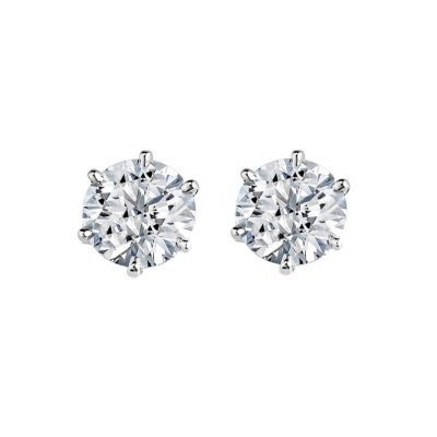 CUBIC ZIRCONIA COLLECTION - SIMULATED 5MM DIAMOND EARRINGS - CZER547