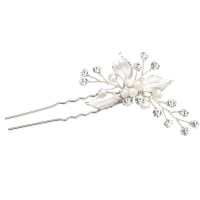 ATHENA COLLECTION - BEJEWELLED ROMANCE HAIR PIN - (SILVER) PIN31