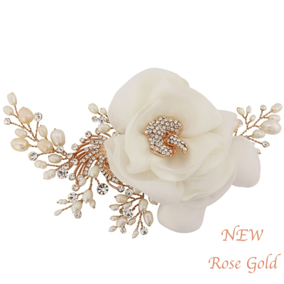 Miriam Wedding Headpiece - Rose Gold HP-12- SASSB