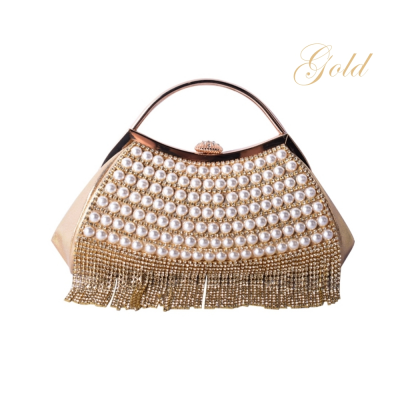 ATHENA COLLECTION - GATSBY GLAM BAG - GOLD