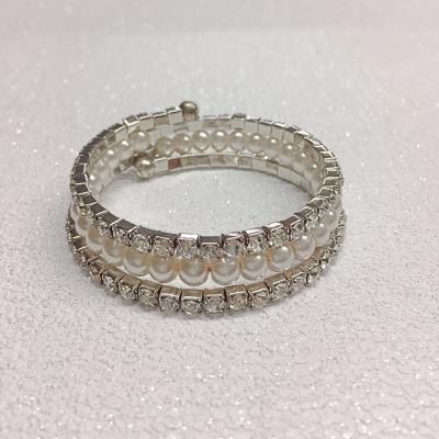 SALE ITEM -Pearl spiral BRACELET (11)