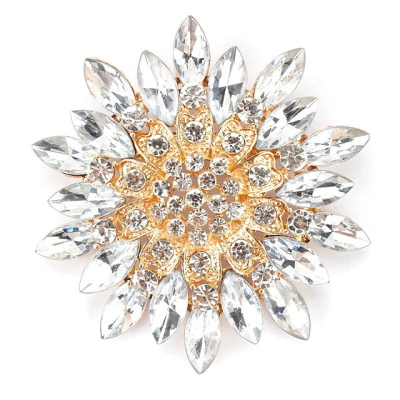ATHENA COLLECTION - STARBURST BROOCH - GOLD (BROOCH 156)