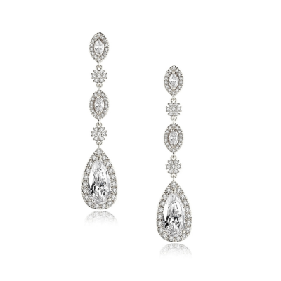 CUBIC ZIRCONIA COLLECTION - VINTAGE TREASURE EARRINGS - CZER545