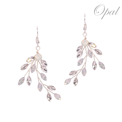ATHENA COLLECTION - CRYSTAL VINE EARRINGS - (ER487) OPAL