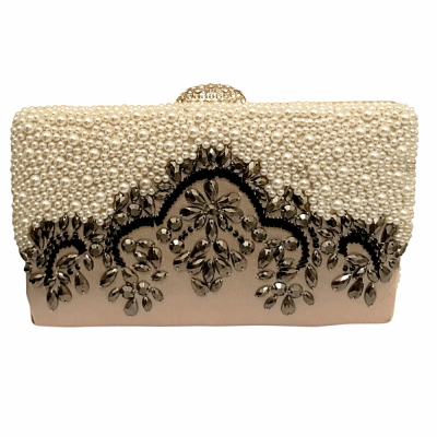 EXQUISITE GATSBY EMBELLISHED CLUTCH BAG - GOLD