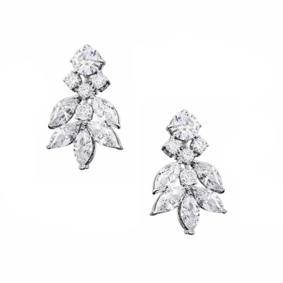 CUBIC ZIRCONIA COLLECTION - CRYSTAL DIVINE EARRINGS - CZER557