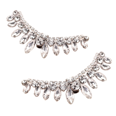 ATHENA COLLECTION - CHIC CRYSTAL SHOE CLIP - SC1 SILVER