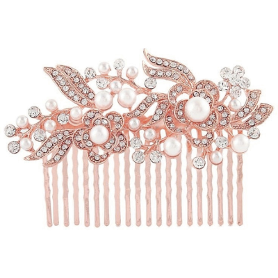 Glam Gatsby Style Comb - (Rose Gold) HC151