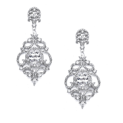 CUBIC ZIRCONIA COLLECTION -  STARLET'S CRYSTAL TREASURE EARRINGS - CZER410