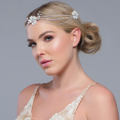 SASSB COLLECTION - JESSY- CRYSTAL EXTRAVAGANCE HEADPIECE - SASSB