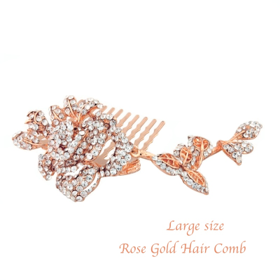 Large Rose Gold Hair Comb - HC132
