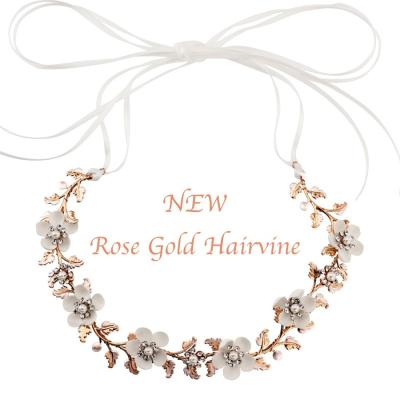 SASSB Collection - Rose Gold Opulence Floral Hairvine HP136 (ROSE GOLD)