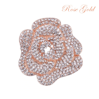 ATHENA COLLECTION - EXQUISTE ROSE BROOCH - BROOCH 158) ROSE GOLD