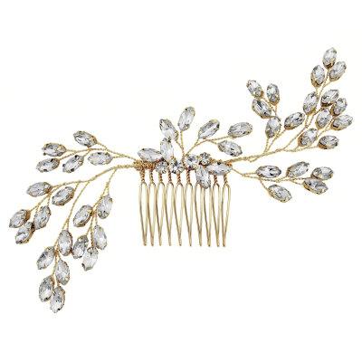 ATHENA COLLECTION - GOLD ELEGANCE HAIRCOMB - (HC155)