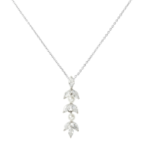 CUBIC ZIRCONIA COLLECTION - DAINTY PEARLNECKLACE - CZNK81