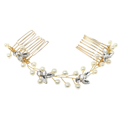 ATHENA COLLECTION - DAINTY PEARL VINE - GOLD (HP160)