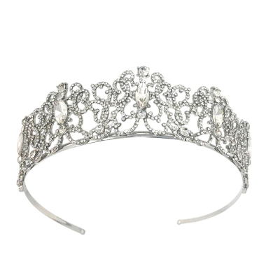 ATHENA COLLECTION - EXQUISITE CRYSTAL STARLET TIARA - AHB-3