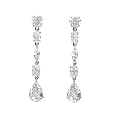 CUBIC ZIRCONIA COLLECTION -  SHIMMER DROP EARRINGS - CZER503