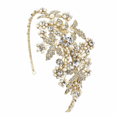ROSALIE GOLD- PEARL ENCHANTMENT HEADBAND - HDB28 - SASSB GOLD
