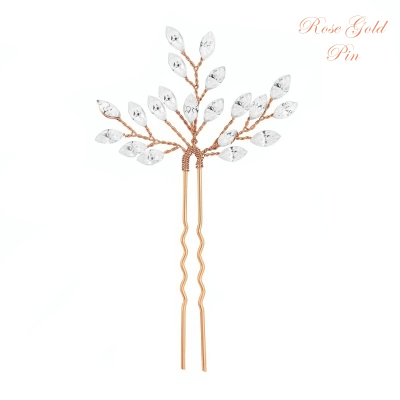 ATHENA COLLECTION - CRYSTAL CHIC HAIR PIN - PIN27 ROSE GOLD