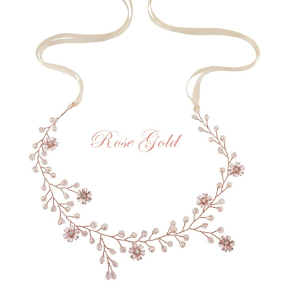 ATHENA COLLECTION - FLORAL ROMANCE HAIRVINE -HP135 ROSE GOLD
