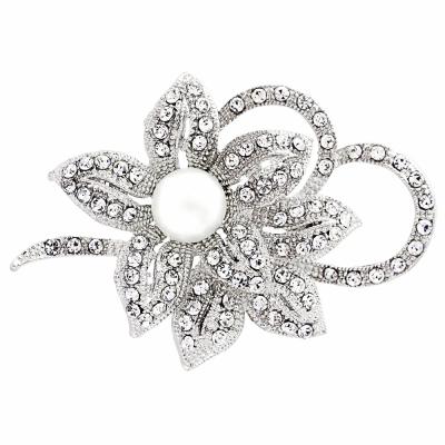 Vintage Crystal Bridal Brooch - (BRCH126)